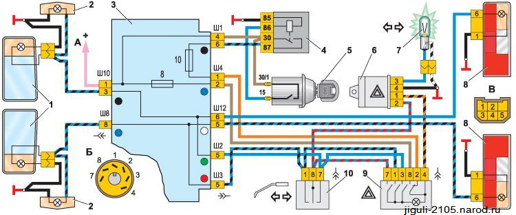 Электросхема инжекторной ваз